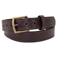 Roland Sands Design Debo Embossed Tobacco Belt