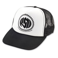 Roland Sands Design Winner's Circle Black/White Trucker Cap