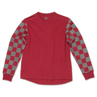 Roland Sands Design Men's Hangtown Reflective Oxblood/Black Long Sleeve T-Shirt