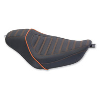 Mustang Revere? Journey Solo Seat with Mandarin Orange Pin Stripes