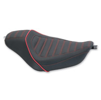 Mustang Revere Journey Stripe Dark Cherry Red Seat