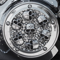 Chrome Dome Polished Skull Derby Cover