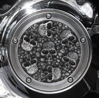 Chrome Dome Aged Skull Derby Cover