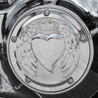 Chrome Dome Polished Heart Derby Cover