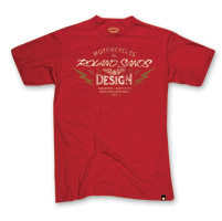 Roland Sands Design Men's Edison Cardinal Red T-Shirt