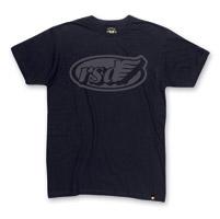 Roland Sands Design Men's Cafe Wing Black w/Reflective Ink T-Shirt