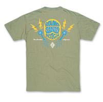 Roland Sands Design Men's Helmets, Pistons & Lightning Light Olive T-Shirt