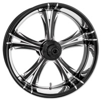 Xtreme Machine Black Cut Xquisite Forged Fierce Front Wheel, 23″ x 3.5″