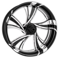 Xtreme Machine Black Cut Xquisite Forged Cruise Front Wheel, 23″ x 3.5″ with ABS