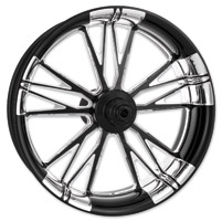 Xtreme Machine Black Cut Xquisite Forged Execute Front Wheel, 23″ x 3.5″ with ABS