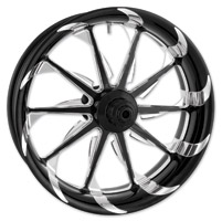 Xtreme Machine Black Cut Xquisite Forged Launch Front Wheel, 23″ x 3.5″ with ABS