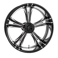 Xtreme Machine Black Cut Xquisite Forged Fierce Rear Wheel, 18″ x 5.5″