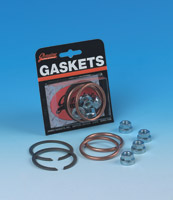 Genuine James Exhaust Gasket Kit with Copper Crush Rings