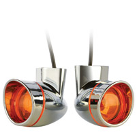 Chrome Visored Bullet Turn Signals