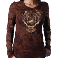 Hot Leathers Upwing Eagle & Roses T-shirt