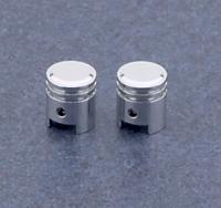 Small Chrome Piston Valve Stem Covers