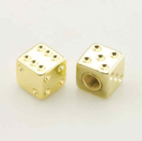 Trik Topz Gold Dice Valve Stem Caps