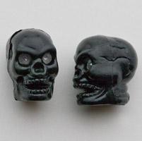 Trik Topz Black Skull Valve Stem Caps
