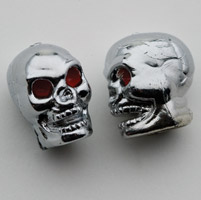 TrikTopz custom valve caps, skulls, chrome