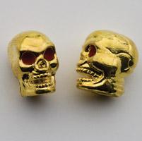 Trik Topz Gold Skull Valve Stem Caps