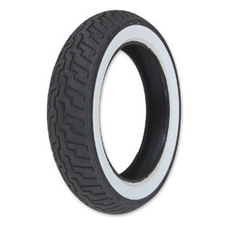 Dunlop D404 140/80-17 Wide Whitewall Front Tire