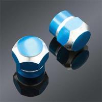 Trik Topz Blue 2-tone Anodized Valve Stem Caps