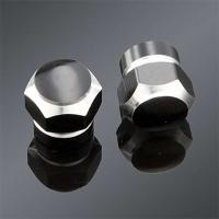 TrikTopz custom valve caps, 2-tone anodized, black