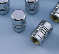 J&P Cycles® Ribbed Valve Stem Covers
