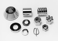 Colony Front Axle Spacer and Nut Kit