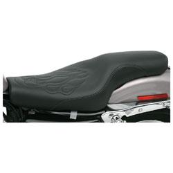 Saddlemen Tattoo Profiler Seat with Black Flame Stitching
