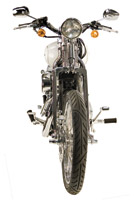 Paughco 30″ Wide Springer Front Ends with Shock and Glide Style Risers