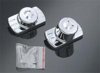 Chrome Rear Axle Cap Set