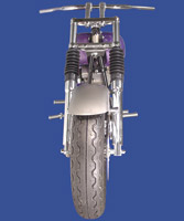 V-Twin Manufacturing Dual Disc Fork Assembly with Chrome Fork Tube and Sliders