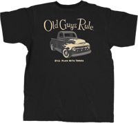Old Guys Rule Plays With Trucks Classic T-shirt