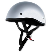 Skid Lid Original Chrome Half Helmet