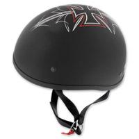 Skid Lid Original Street Rod Flat Black Half Helmet