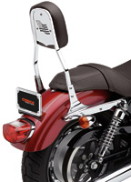 Cobra 17″ Standard Square Sissy Bar with Pad