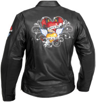 River Road Angel/Devil Graphix Leather Jacket
