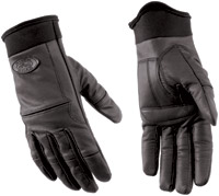 River Road Women's Chisel Matte Black Leather Gloves