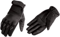 River Road Men's Mystic Leather-Mesh Gloves