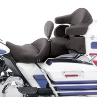 Mustang Heated Super Touring Seat Plain with Driver Backrest
