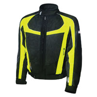Olympia Moto Sports Men's Switchback 2 Air Neon Yellow Textile Jacket