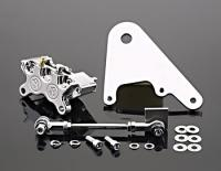 Performance Machine Polished 4 Piston Rear Brake Caliper Kit for Rigid Custom Applications with 11.5 in Disc