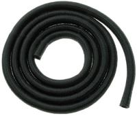 J&P Cycles® Black Nylon Braided Fuel and Oil Hose; 1/4