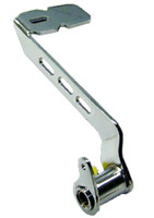 Walter's Workshop Extended Brake Pedals for FLHT with Slotted Billet Look