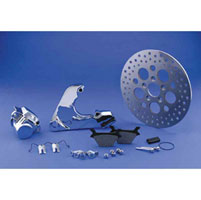 V-Twin Manufacturing Rear Caliper & Rotor Kit for Big Twin
