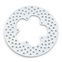 J&P Cycles® Vented Zinc Disc Brake Rotor