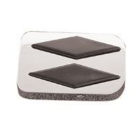 J&P Cycles® Diamond Brake Pedal Pad