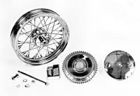 Chrome Rear Wheel and Drum Assembly