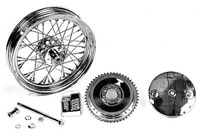 V-Twin Manufacturing Spoke Chrome Rear Wheel and Drum Assembly 16